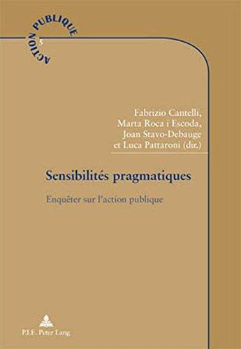 Sensibilites Pragmatiques: Enquêter Sur L'action Publique par Michel Catlla
