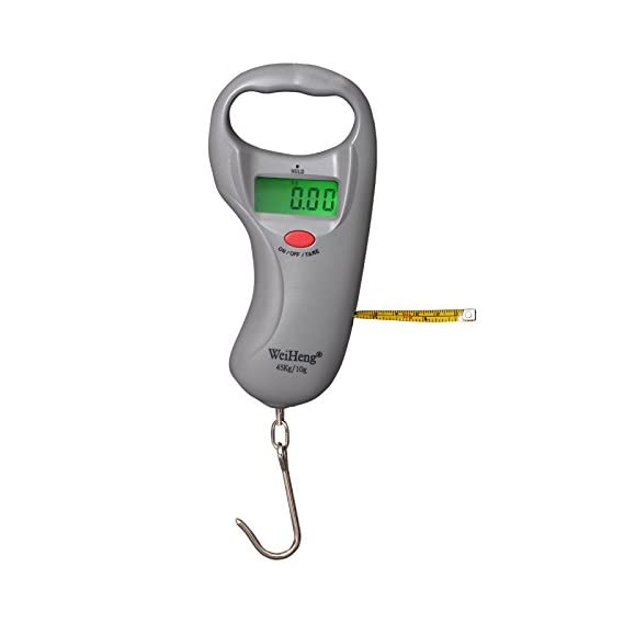 Baijnath Premnath Capacity 45 Kg, Accuracy 10 Gram, Hanging Scale for Lugguage, Cylinders and Household use, with Measuring Tape of 3 Feet (for Research Purpose)