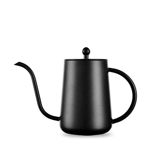 JXLBB Mano de Acero Inoxidable Negro Olla de café Teflon Boca Larga...