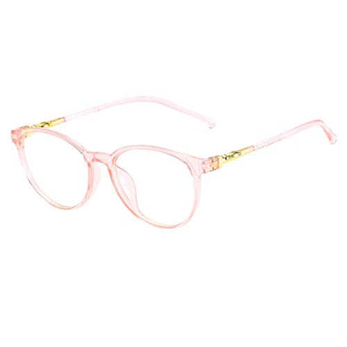 KItipeng Unisex Vintage Brillen Runde Brille Retro Klare Linse Brille Klare Linse Ultraleicht Rahmen Mode Ebenenspiegel Nerdbrille