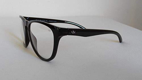 adidas Originals San Diego Sonnenbrille, klare Gläser, 100% UV-Schutz, Schwarz
