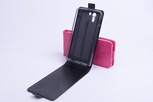 Baiwei Pu Leder Kunstleder Flip Cover Tasche Handyhülle Case für Asus PadFone S X Tasche Hülle Case Handytasche Handyhülle Etui (Schwarz)