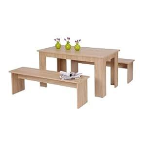 Avanti trendstore set con tavolo e due panche per la sala for Sitzbank poco