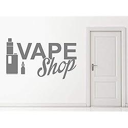 ZJfong Vinyle Stickers Muraux Vape Signe de la Boutique Stickers Muraux Décor À La Maison Cigarette Électronique Art Decal Wallpaper 57x33cm