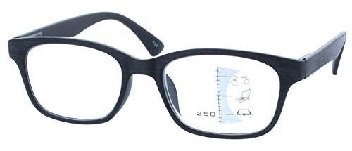 Gleitsichtbrille GEROLD - erweiterte Fertiglesehilfe/Lesebrille | Arbeitsplatzbrille +2,50 dpt Schwarz