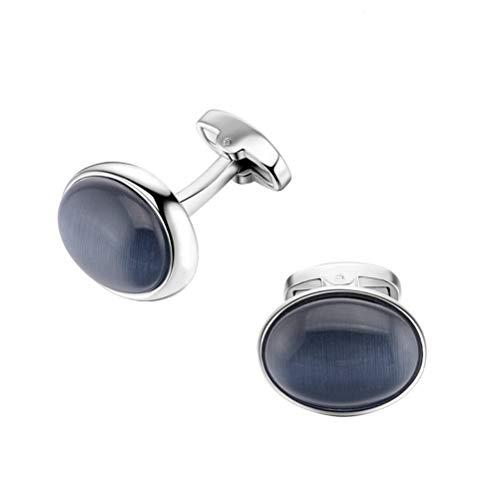 Manschettenknöpfe für Herren, Cat'S Eye Dark Blue Crystal Verkupferung Französische Manschettenknöpfe, Sparkly Geschenk Modisches Shirt Zubehör Für Buchhalter Boss Business Hochzeit Prom Offizi