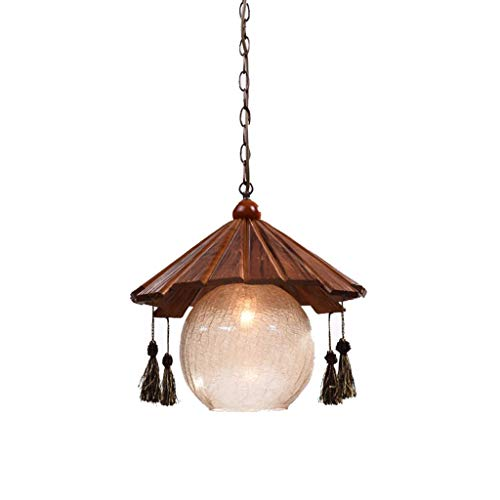 ssivholz Single Head Chandelier - Restaurant Bar Retro Kreativer Teehaus-Kronleuchter (Farbe: Warmes Licht) ()