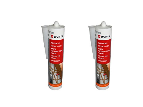 wurth-pack-of-2-painters-acrylic-silicone-white-310ml-cartridge-window-glazing-seal-expansion-joints