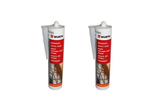 wurth-2-stuck-maler-acryl-silikon-braun-310-ml-kartusche-fensterverglasung-abdichtung-dehnfugen-sili