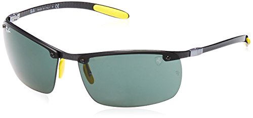 Ray-Ban Junior Herren 0RB8305M F01071 64 Sonnenbrille, Shiny Dark Carbon/DarkGreen
