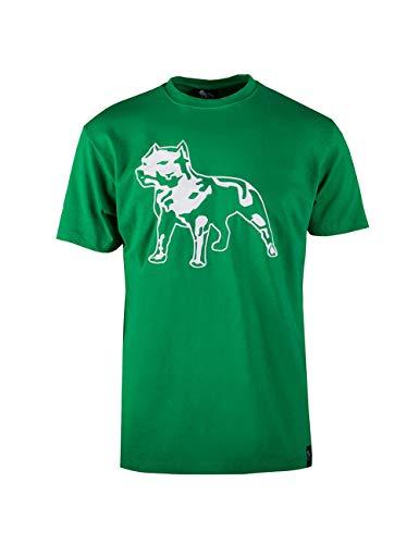 Amstaff Männer Logo Shirt - grün M -