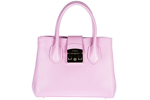 Furla Leder Handtasche Damen Tasche Bag rosa (Furla Leder Tasche)