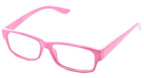 Nerd-Brille schmal rosa ohneSehstärkeca. 13,5 x 3,5 cm Herren Damen Panto-Brille Lese-Brille Nerd-Brille Geek-Brille (Sexy Geek Kostüme)