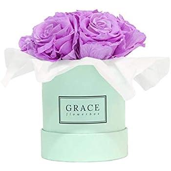Classic White Baby Flowerbox Bouquet Bekannt aus Die H/öhle der L/öwen 7-11 echte konservierte Rosen PINK BOUQUET GRACE Flowerbox 1-3 Jahre haltbare Infinity Rosen