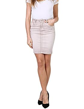 Onado Mujer falda vaquera corta stretch falda denim Jeans de 36 a 44