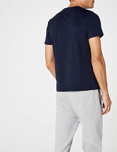 Hilfiger Denim Herren T-Shirt Original cn knit s/s, Gr. Large, Blau - 5