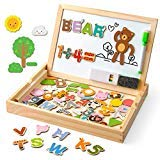 """Coogam Wooden Magnetic Letters Numbers Animals with Easel Board €"""" Alphabet 123 ABC"""