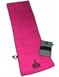 YISAMA Toalla para Gimnasio de Microfibra. Se usa en Tenis y Golf. Color Fucsia