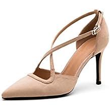 Verano de corbata de tacón alto de tacón alto con zapatos de tacón alto (Color