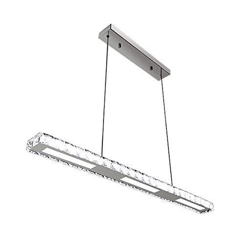 Hengda® LED Pendelleuchte Esszimmer, 24W Dimmbar Hängelampe, mit Fernbedienung, Acryl Kristall, 800*75*1200mm [Energieklasse A++]
