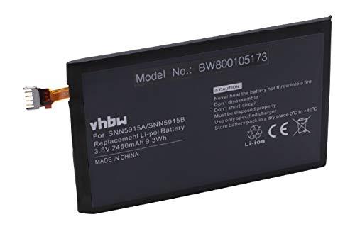 vhbw Akku 2450mAh (3.8V) für Telefon Smartphone Handy Motorola Droid RAZR MAXX, Droid RAZR MAXX HD 4G, XT925, XT926 wie EV30, SNN5915A, SNN5915B. (Razr-handy Droid)
