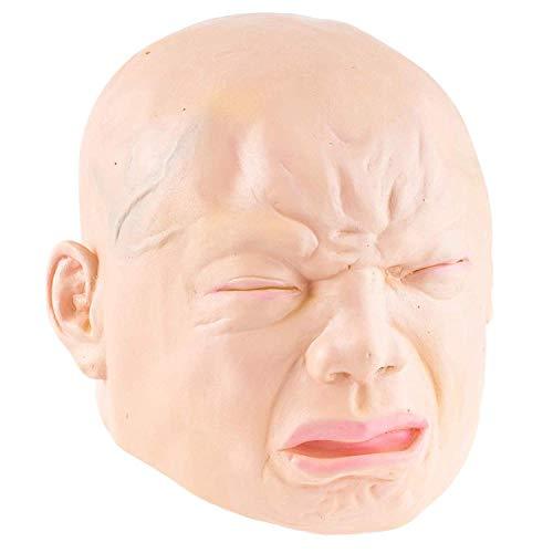 YWJ Weinen Baby Maske Latex Maske alte männliche Verkleidung Halloween Kostüm