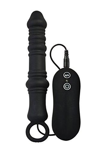 Silicone-Plug-Anal-Vibromasseur-Masseurs-de-Prostate-P-point-10-Vitesses-Stimulation-Anale-Vibrant-Jouet-Sexuel-avec-telecommande-Stimulateur-du-prine-Pour-Homme-Masturbation-noir