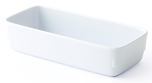 LOT DE 10 RAVIERS RECTANGULAIRES MELAMINE BLANC L155 x lg70 x H35 mm. 38cl