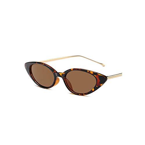 DYFDHA Sonnenbrillen Women Small Cat Eye Sunglasses Classic Brand Designer Oval Metal Frame Sun Glasses For Female Male Shades as picture C1Black