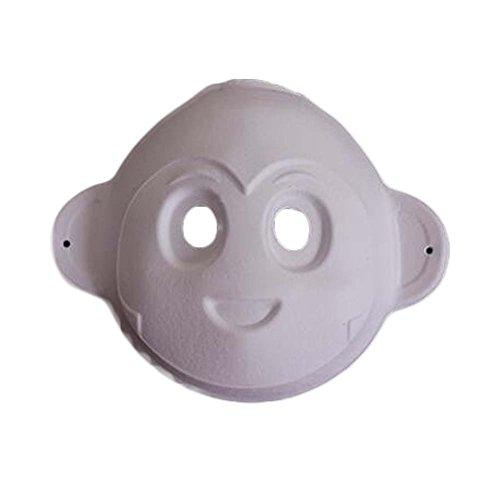 Satz von 10 Weiße Masken-Kostüm-Masken-Malerei DIY Papiermaske Unbelegte -