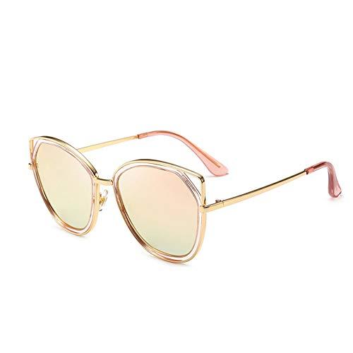 Thirteen Sonnenbrillen, Bunte Katzenauge Der Frauen Polarisierte Gesichtsreparatur, Stilvoller UV-Schutz, Bequemer Augenschutz, Passend Für Eine Vielzahl des Gesicht (Color : Pink)