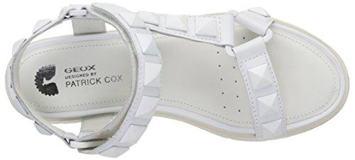 Geox Damen D Darline D Sandalen Weiß - Blanc (C1000)