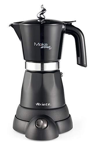 Ariete 1368 Cafetera eléctrica Moka aroma, 480 W, plástico, Negro