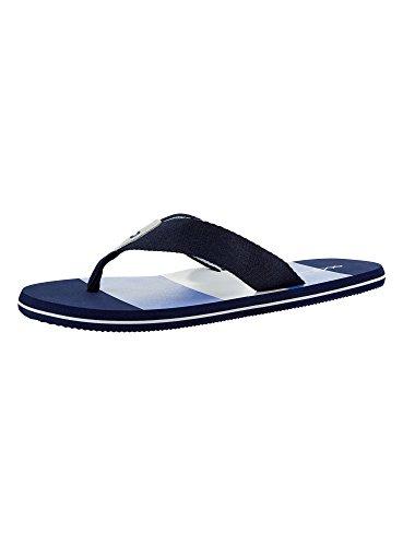 oodji Ultra Herren Bedruckte Flip-Flops, Blau, 42 EU / 8 UK