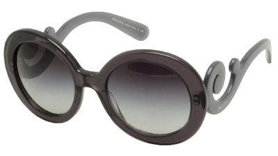 New Prada PR 27NS KAM/5D1 Grey Blue Men Women Plastic Sunglasses