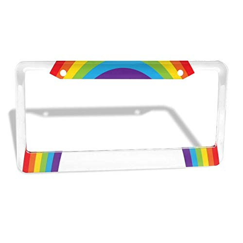 License Plate Frame Best Gay Pride Personalized Aluminum License Plate Set Metal Tag Holder 12 x 6 Inch 2 Packs