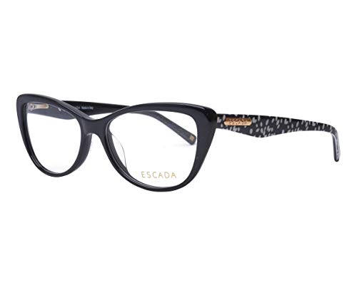 Escada Brille (VES-380 0700) Acetate Kunststoff schwarz glänzend - schwarz bedruckt