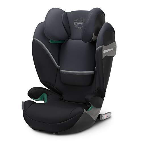 CYBEX Gold Kinder-Autositz Solution S i-Fix, Für Autos mit und ohne ISOFIX, Gruppe 2/3 (15-36 kg), Ab ca. 3 bis ca. 12 Jahre, Granite Black