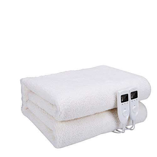 Preisvergleich Produktbild Unbekannt Die Vliesheizdecke Ist Eine Zweischichtige Temperaturgesteuerte Doppelschichtkontrolle. Größe (180 * 160Cm),  Kann Im Wohnzimmer Schlafsaal Verwendet Werden, White, 180 * 160
