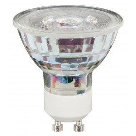 LEDs Change The World Sensationeller LED Glas-SPOT GU10 230V 5,3W warmweiß 2.700K 50W Halogenersatz 345 Lumen 36° Abstrahlwinkel (Tv Led 46)