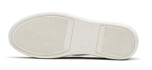 OPP Scarpe da Uomo Flats Vera Pelle Loafer Scarpe Argento