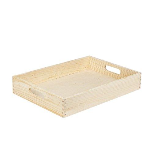 Plateau de service en bois 25 x 35 cm bouleau finlandais repas plat petit déjeuner