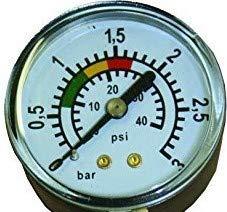 well2wellness Pool Manometer/Wasser Druckmesser 1/8 Zoll