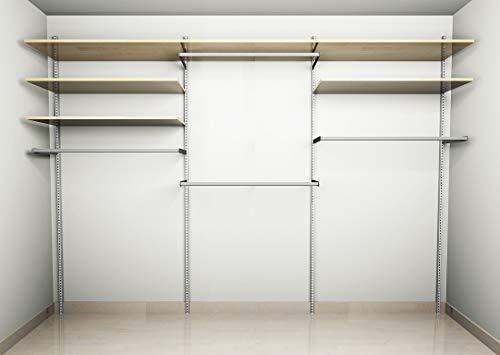 Cabina armadio guardaroba arredamento negozi appenderia ripiani acero 300 cm