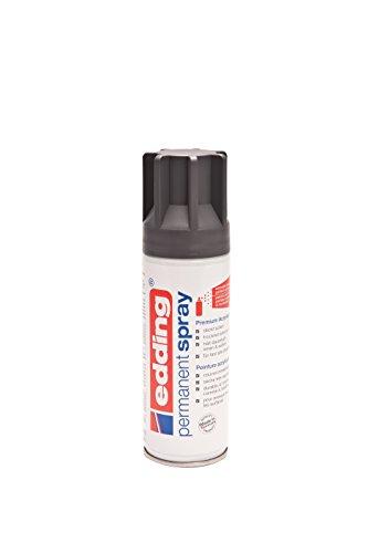 edding 5200 Permanent Spray Premium-Acryllack – anthrazit – seidenmatt – Sprühlack zum Lackieren, Restaurieren und kreativen Gestalten fast aller Oberflächen (z.B. Glas, Metall, Holz, Keramik, lackierfähiger Kunststoff, Leinwand) – Inhalt: 200 ml