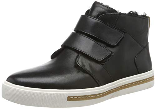 Clarks Un Maui Mid, Zapatillas Altas para Mujer, Negro Black Leather Black Leather, 38 EU