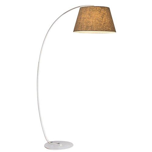 Single Stem Arc Stehlampe, Stickerei Lampenschirm, Höhe 74,86