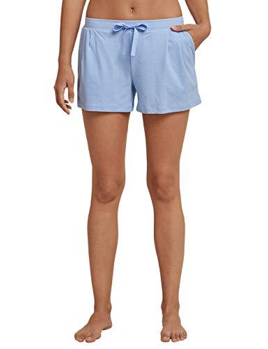 Schiesser Damen Mix & Relax Jerseyhose kurz Schlafanzughose, Blau (Air 802), 40 (Herstellergröße: 040)