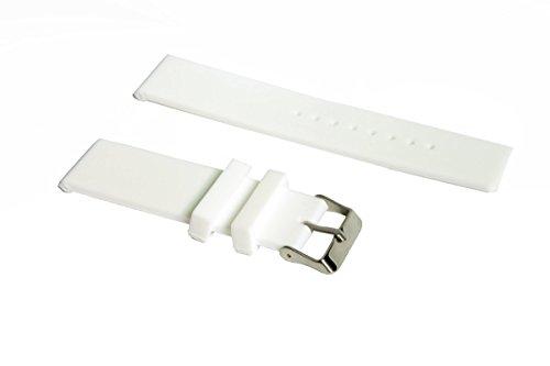 Preisvergleich Produktbild 24mm Sports Silikon Armband Strap Uhrenarmband + Werkzeug für Sony Smartwatch 2 SW2 Weiß