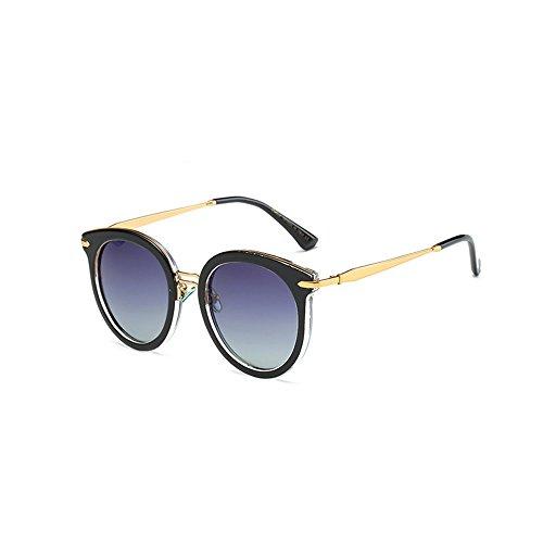 Machst du Sport? Outdoor sunglasse Elegante Cat Eye-Sonnenbrille für Damen, Metallrahmen, UV-Schutz für polarisierte Gläser, Gebrauch im Freien (Color : Gray)
